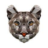Polygonales Porträt des Pumas vektor abbildung