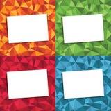 Polygonbakgrunder Arkivfoton