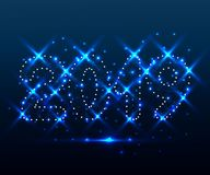 2019 polygone, étoiles bleues 3 images libres de droits