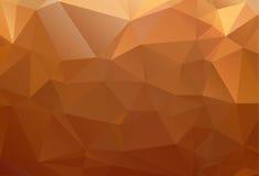 Polygone abstrait brun jaune-orange de fond Image stock