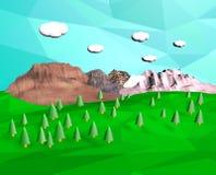 polygone bluesky de la montagne 3d Image stock