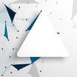 Polygone d'abrégé sur fond de réseau de vecteur Photos stock