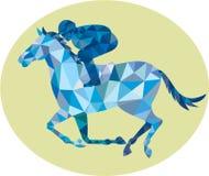 Polygone de Horse Racing Oval de jockey bas Photos stock