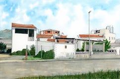 Polygone de moulin (avions de moli de les) Image libre de droits
