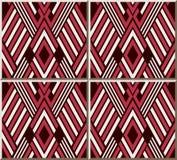 Polygone Diamond Check Cross Frame Geometry de modèle de carreau de céramique illustration libre de droits