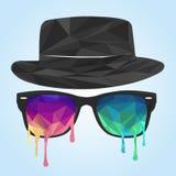 Polygone en verre, polygone de chapeau Photographie stock libre de droits