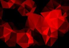 Polygone rouge abstrait lumineux de fond Images libres de droits