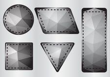 Polygonetikett Arkivbilder