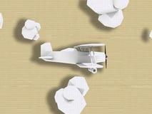Polygonflugzeug auf grunge Hintergrund stock abbildung