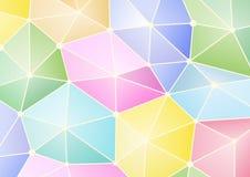 Polygonform mit kühlen Pastellfarben Stockfoto