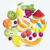 Polygonfruchtsatz, runde Gruppe stock abbildung