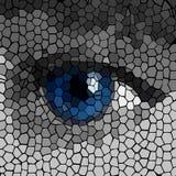 Polygonhintergrund mit menschlichem Auge,  Lizenzfreie Stockfotos