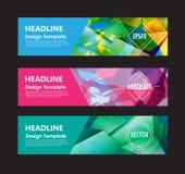 Polygonhintergrunddesign-Vektor templa der Fahne abstraktes buntes Stockfotos