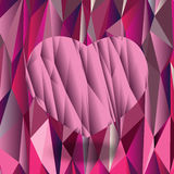Polygonhjärtabakgrund Arkivfoto