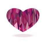 Polygonhjärtadiamant Arkivfoto