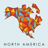 Polygonkarte Nordamerika lizenzfreie stockbilder