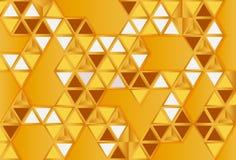 Polygonl astratto dell'oro Immagine Stock Libera da Diritti