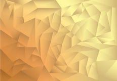 Polygonmuster-Zusammenfassungshintergrund, Gold und brauner Themaschatten Lizenzfreies Stockfoto