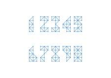 Polygonnummeruppsättning Royaltyfri Fotografi
