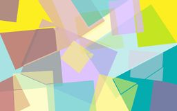 Abstract colored geometric background Stock Images
