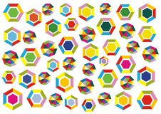 Polygons decoration Royalty Free Stock Images