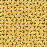 Polygons and lines on a yellow background abstract seamless pattern  Royalty Free Stock Photography