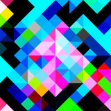 Polygons psychedelic colored geometric background pixels Royalty Free Stock Images