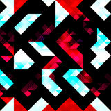 Polygons psychedelic colored geometric background pixels Stock Photo