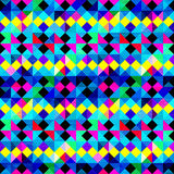 Polygons psychedelic colored geometric background pixels Stock Image