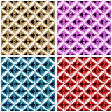 Polygons in red blue pink brown Collection Stock Photography