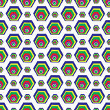 Polygons on a white background seamless pattern wallpaper Royalty Free Stock Image