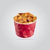 Polygonstekt kycklingillustration arkivfoto