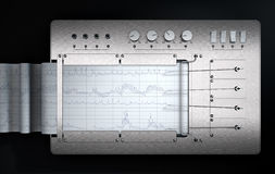 Free Polygraph Lie Detector Machine Royalty Free Stock Image - 85164356