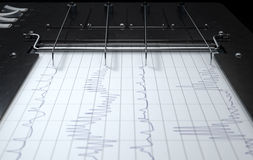Polygraph Lie Detector Machine Royalty Free Stock Images
