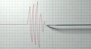 Polygraph-Nadel und Zeichnung Lizenzfreies Stockbild