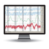 Polygraph test Royalty Free Stock Images