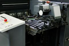 Polygraphic process stock photo