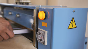 Polygraphic process in a modern printing house - work of press Royalty Free Stock Photography