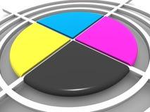 Polygraphic target. CMYK vector illustration
