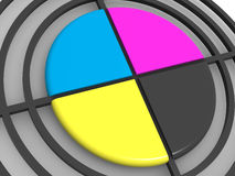 Polygraphic target. CMYK Stock Image