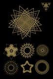 Polyhedral геометрические формы Стоковое Изображение
