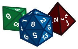 Polyhedral Dice Royalty Free Stock Photo