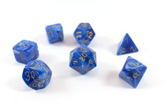 Polyhedral dice Royalty Free Stock Photography