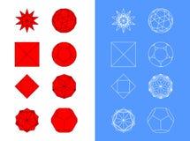 Polyhedron σκίτσο Στοκ Εικόνα