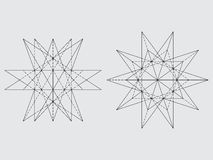 Polyhedron drawing Royalty Free Stock Photography