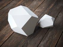 Polyhedron för två vit royaltyfria bilder