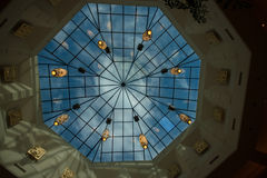 Polyhedron skylight dome on the roof Royalty Free Stock Photo
