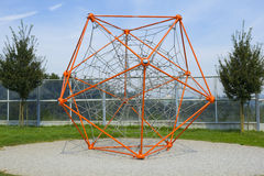 Polyhedron web playground. Polyhedron shaped web playground. Children like to climb and play on it Stock Image