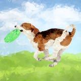Polyhond in openlucht-06 vector illustratie