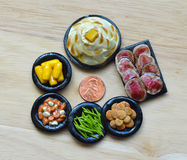 Polymer Clay Food. For Dollhouse dinner on the table Royalty Free Stock Photography